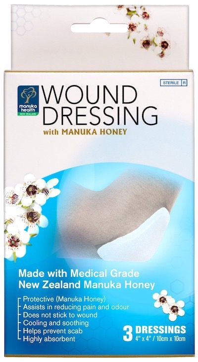 Wound dressing with manuka honey 2